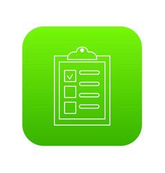 checklist icon green vector image
