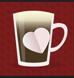 Coffee love design vector