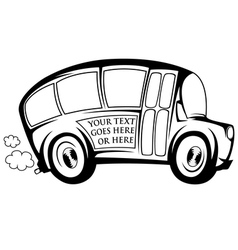 Cool bus vector