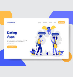 couple with dating apps vector image