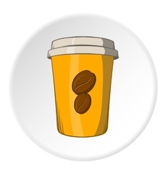 Cup of coffee icon cartoon style vector image