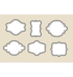 decorative blank frame vector image