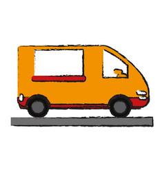 Delivery van icon image vector
