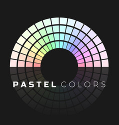 discrete set pastel shades semicircle color vector image