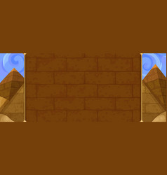 egyptian background with pyramids vector image