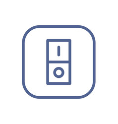 electric light switch icon with one button vector image
