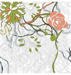 exotic flowers on gray background vector image