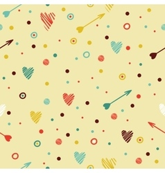 Festive colorful seamless pattern with heart vector