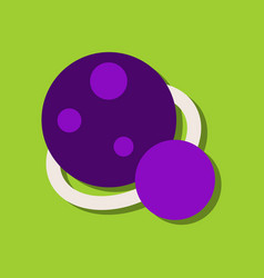 Flat icon design collection two planets in vector