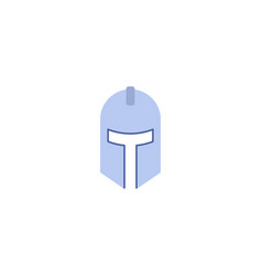 flat icon knight helmet element vector image
