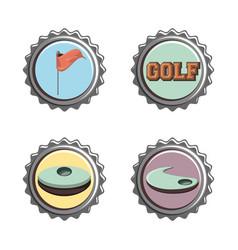 Golf club seals set icons vector