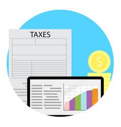 Growth taxation concept vector