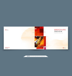 horizontal brochure template layout design vector image