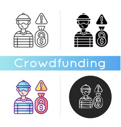 initial coin offering icon vector image