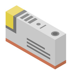 Ink printer cartridge icon isometric style vector