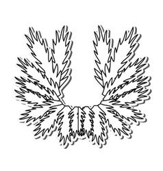 Leaves pine merry christmas design vector