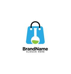 Medical laboratory store logo design inspiration vector