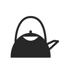 monochrome japanese kettle icon on white vector image