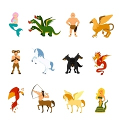 Mythical Creature Images Set vector