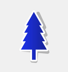 new year tree sign new year bluish icon vector image