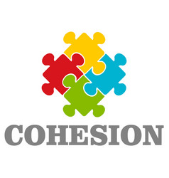 people cohesion logo flat style vector image