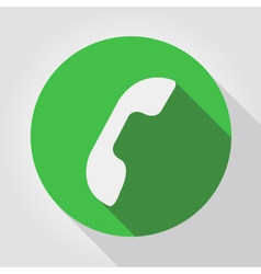 Phone icon green flat design vector