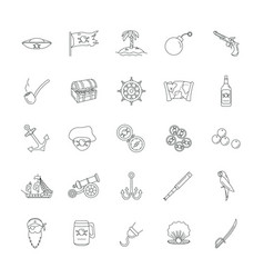 pirates icon outline style vector image