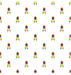 Princess throne pattern seamless vector