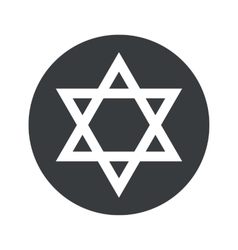 Round Star of David icon vector