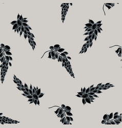 seamless pattern with hand drawn stylized ginger vector image
