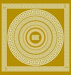 Set frieze with vintage golden Greek ornament vector