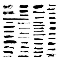 Set of grunge paint strokes vector