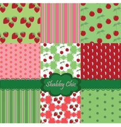 Shabchic set colorful fabrics vector