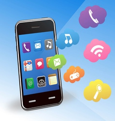 smart phone and applications vector image