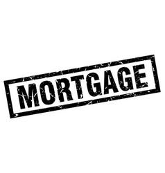 Square grunge black mortgage stamp vector