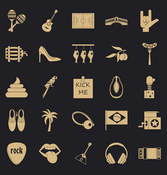 Street rest icons set simple style vector