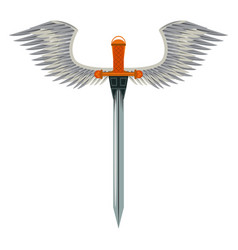 Sword weapon with wings vector