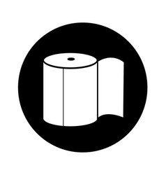 toilet paper icon design vector image