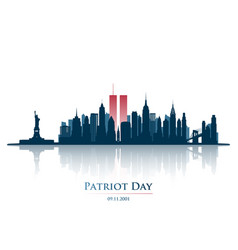 twin towers in new york city skyline vector image