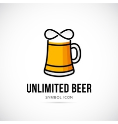 Unlimited Beer Concept Symbol Icon or Logo vector