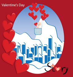 valentine day with love vector image