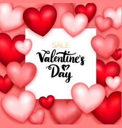 valentines day sale paper vector image