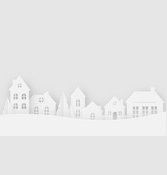 views of the house in winter season vector image