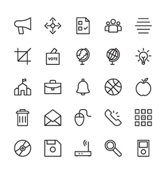 Web and user interface outline icons 13 vector