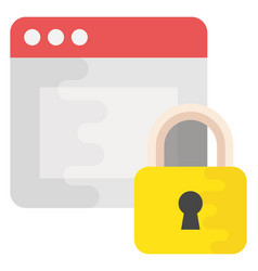 Web protection flat icon vector