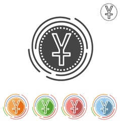 Yuan sign Insulated flat icon vector