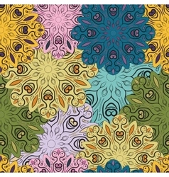Colorful seamless pattern with flowery vector image