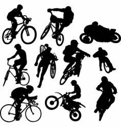 cyclists vector image vector image