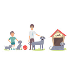dog life set vector image vector image