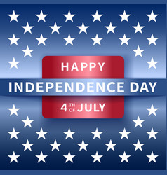 happy independence day background 4th of july vector image